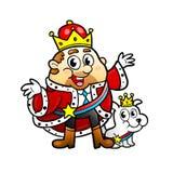 Den gulliga konungen av affären med hans förföljer Arkivfoto