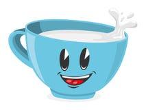 den gulliga koppen mjölkar royaltyfri illustrationer