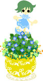 Den gulliga lilla blomkrukan - Veronica-persica- Royaltyfria Foton