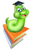 Den gulliga tecknade filmen Caterpillar avmaskar Royaltyfria Bilder
