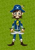 Den gulliga tecknade filmen piratkopierar kaptenen Fotografering för Bildbyråer