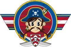 Den gulliga tecknade filmen piratkopierar kaptenen Arkivfoto
