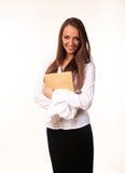 Gullig ung affärskvinna Royaltyfri Fotografi