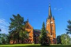 Den Gustav Adolf kyrkan är en församlingkyrka i Sundsvall sweden Arkivbild