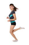 den gymnastiska flickan poserar fotografering för bildbyråer