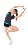 den gymnastiska flickan poserar arkivfoton
