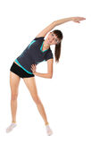 den gymnastiska flickan poserar arkivbilder