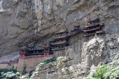 Den hängande kloster, Datong, Kina royaltyfri bild