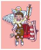 Den härliga ängeln reparerar av den brutna hjärtan Arkivfoton