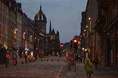 Den härliga aftonen i Edinburg Royaltyfri Foto