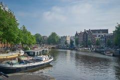 Den härliga Amsterdam i juni Fotografering för Bildbyråer