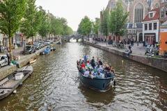 Den härliga Amsterdam i juni Royaltyfri Foto