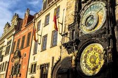Den härliga astronomiska klockan av Prague, Tjeckien Arkivfoto