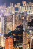 Den härliga atmosfären av uteliv för Hong Kong ` s Fotografering för Bildbyråer