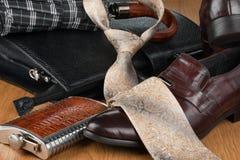 Den härliga bilden av mäns moderna mode, kan använda som bakgrund Arkivfoto