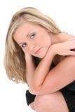 den härliga blondinen eyes barn för hårhazelkvinna Royaltyfri Bild