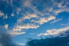 den härliga bluen clouds skyen Royaltyfria Bilder