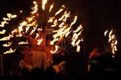 Den härliga bränningen tänder eld på inställningen Royaltyfri Fotografi