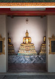 Den härliga buddhaen skulpterar på Wat Po i Thailand Royaltyfri Fotografi