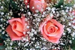 den härliga buketten blommar bröllop Arkivbild