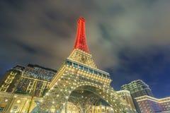 Den härliga byggnaden av det parisiska Macaoet Arkivbilder