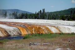 Den härliga calderaen på den yellowstone nationalparken Fotografering för Bildbyråer
