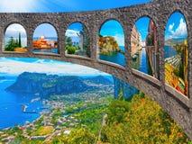Den härliga Capri ön royaltyfria foton