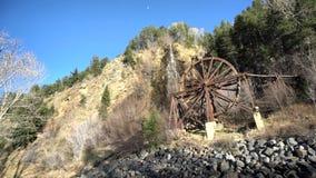 Den härliga Charlie Tayler Water Wheel på Idaho vårar lager videofilmer