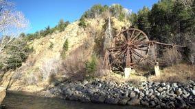 Den härliga Charlie Tayler Water Wheel på Idaho vårar arkivfilmer