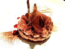 Den härliga Chocs kakan dekorerar med socker royaltyfria bilder