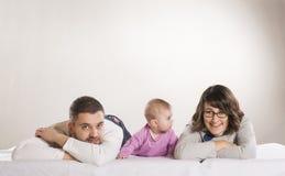 Liten familj Arkivfoton
