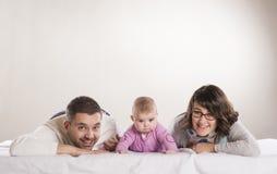 Liten familj Arkivfoto