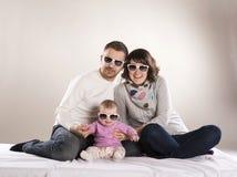 Liten familj Arkivbilder