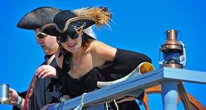 den härliga festivalen piratkopierar piratkopierar portland Royaltyfria Bilder
