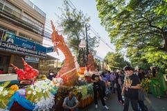 Den härliga flötet i ståtar för främjade 46th Thailand nationella lekar arkivbild
