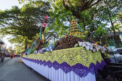 Den härliga flötet i ståtar för främjade 46th Thailand nationella lekar royaltyfria foton