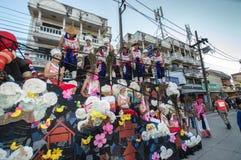 Den härliga flötet i ståtar för främjade 46th Thailand nationella lekar royaltyfria bilder