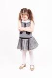 den härliga flickan kränkt little var Royaltyfria Foton