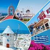 Den härliga grekiska ön, Mykonos Fotografering för Bildbyråer