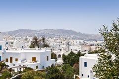 Den härliga grekiska ön, Mykonos royaltyfri foto