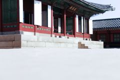 Den härliga Gyongbokkungen i Seoul Chundian miljon Fotografering för Bildbyråer