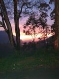 Den härliga horisonten och soluppgången arkivfoto