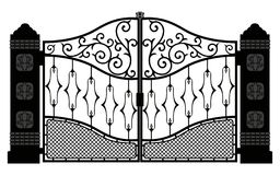 Den härliga järnprydnaden utfärda utegångsförbud för illustrationen eps 10 vektor illustrationer