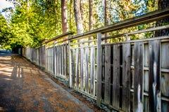 Den härliga japanträdgården på Manito parkerar i Spokane som tvättar sig arkivfoto