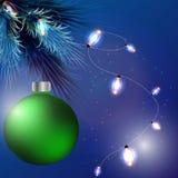 Den härliga julen klumpa ihop sig Arkivbild