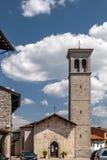 Den härliga kyrkan av helgon Peter och Biagio av Cividale del Friuli, Udine, Friuli Venezia Giulia, Italien royaltyfri fotografi