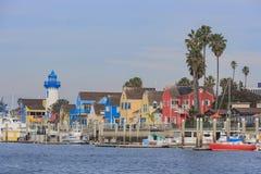 Den härliga Marina Del Rey hamnen royaltyfri bild