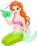 Den härliga mermaiden med havet beskjuter stock illustrationer