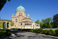 Den härliga Mirogoj kyrkogården på den soliga dagen Royaltyfria Foton