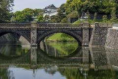 Den härliga sikten av den imperialistiska slotten parkerar i det Chiyoda området av Tokyo, Japan arkivbilder